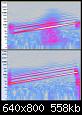 Klicke auf die Grafik für eine größere Ansicht  Name:210327 Audacity Spectrogramm 20-150Hz BR oben, Membran unten.PNG Hits:20 Größe:557,7 KB ID:60008